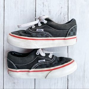 Vans Classic Black Checkered Lace Up Shoes 7.5